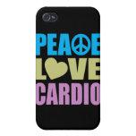 Peace Love Cardio iPhone 4 Case