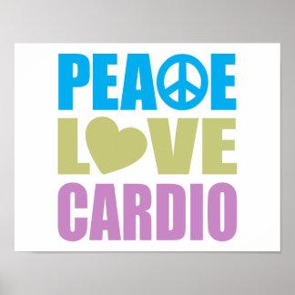 Peace Love Cardio Poster