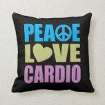 Peace Love Cardio Throw Pillows