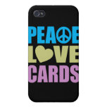 Peace Love Cards Covers For iPhone 4
