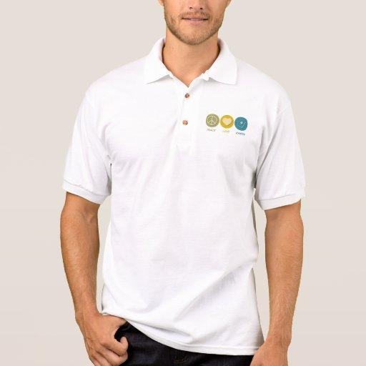 Peace Love Cards Polo Shirts