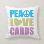 Peace Love Cards Throw Pillows