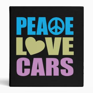 Peace Love Cars Binder
