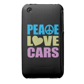 Peace Love Cars iPhone 3 Cases