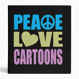 Peace Love Cartoons Binder