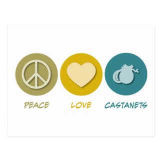 Peace Love Castanets Postcard