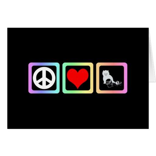 Peace love cat card