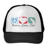 Peace Love Cat Hats