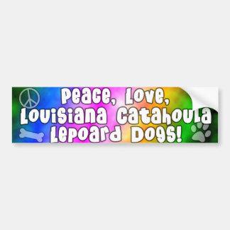 Peace Love Catahoula Leopard Dogs Bumper Sticker Car Bumper Sticker