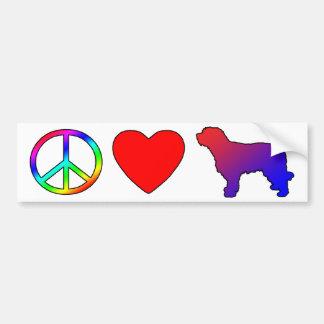 Peace Love Catalan Sheepdogs Bumper Stickers