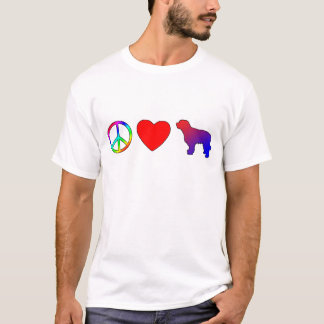 Peace Love Catalan Sheepdogs T-Shirt