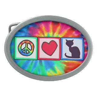Peace, Love, Cats Belt Buckles