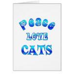 PEACE LOVE CATS CARD
