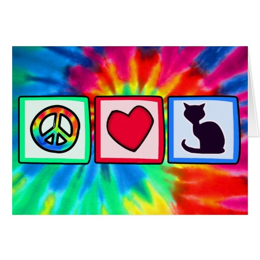 Peace, Love, Cats Cards