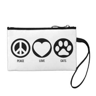 Peace Love Cats Change Purse