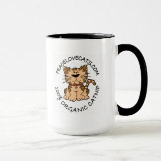 peace love cats coffee mug
