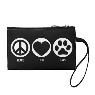 Peace Love Cats Coin Wallet