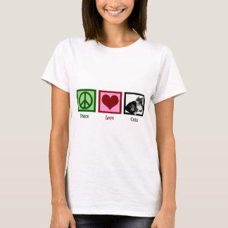 Peace Love Cats Cute Womens T-Shirt