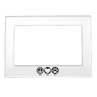 Peace Love Cats Magnetic Frame
