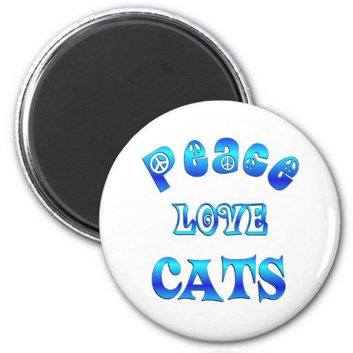 PEACE LOVE CATS MAGNETS