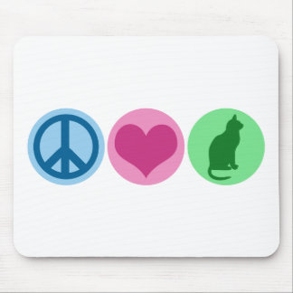 Peace Love Cats Mouse Pad