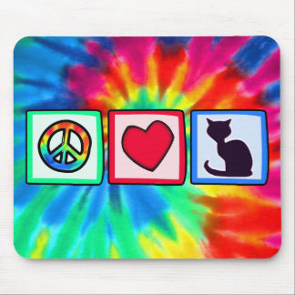 Peace, Love, Cats Mouse Pads