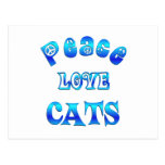 PEACE LOVE CATS POST CARD
