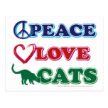 Peace-Love-Cats Post Cards