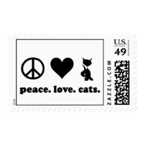 Peace. Love. Cats. Postage