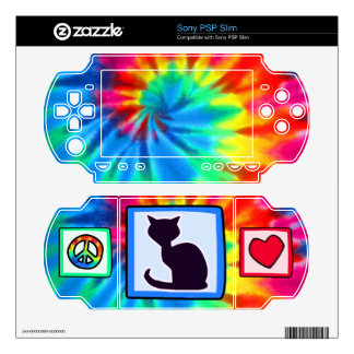 Peace Love Cats PSP Slim Decal