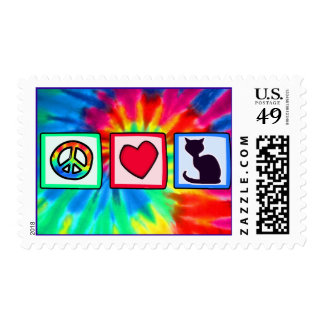 Peace, Love, Cats Stamp