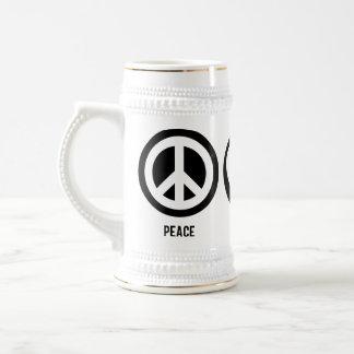 Peace Love Cats Stein Coffee Mug
