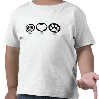 Peace Love Cats T-Shirt