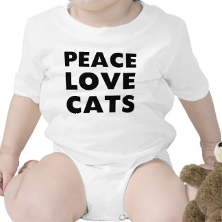 Peace Love Cats Bodysuits