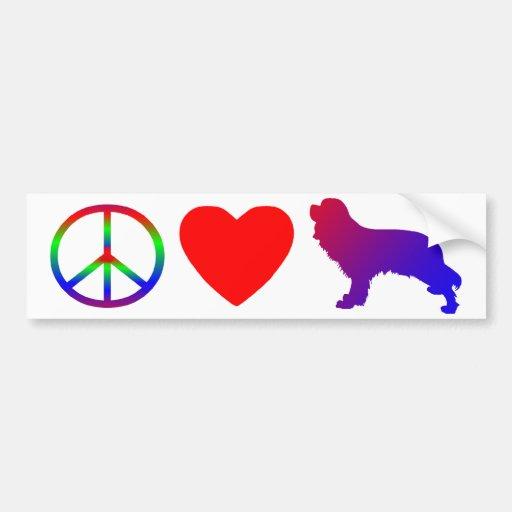 Peace Love Cavalier King Charles Spaniels Bumper Sticker