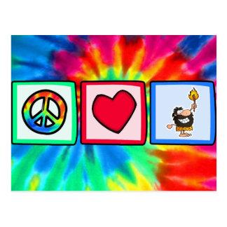 Peace, Love, Cavemen Postcard