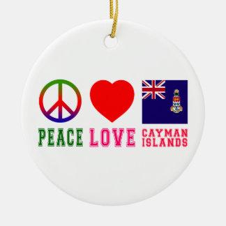 Peace Love Cayman Islands Ceramic Ornament
