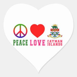 Peace Love Cayman Islands Stickers