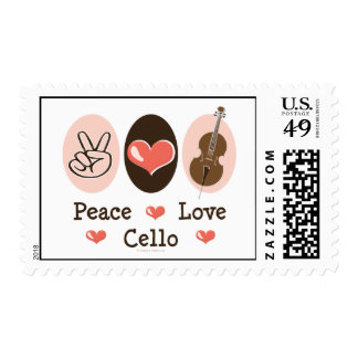 Peace Love Cello Stamp