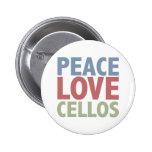 Peace Love Cellos 2 Inch Round Button