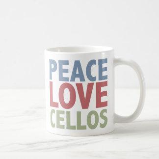 Peace Love Cellos Coffee Mug