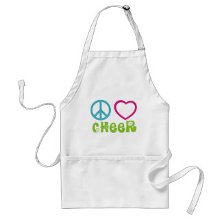 Peace Love Cheer Adult Apron
