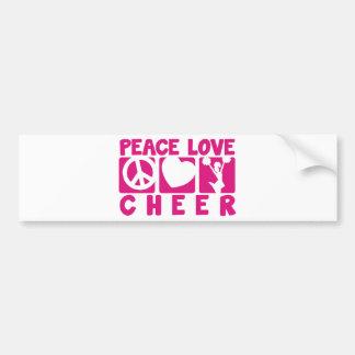Peace Love Cheer Bumper Sticker