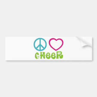 Peace Love Cheer Bumper Sticker