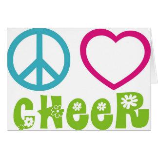 Peace Love Cheer Card
