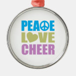 Peace Love Cheer Christmas Tree Ornament
