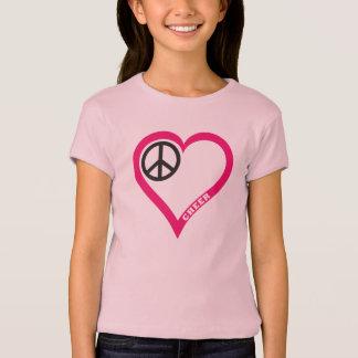 Peace Love Cheer Girl's Lavander Cap Sleeve Shirt