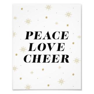 Peace Love Cheer | Holiday Art Print Photo Print