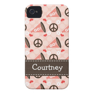 Peace Love Cheer iPhone 4 4s Case-Mate Cover Case-Mate iPhone 4 Cases