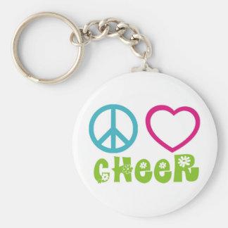 Peace Love Cheer Keychain